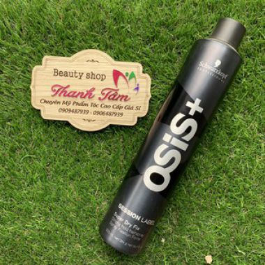 Gôm xịt tóc Osis+ Black Super Dry Fix Schwarzkopf 500ml ( Strong Hold Hairspray)